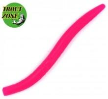 """Мягкая приманка TROUT ZONE Wake Worm 2 3,2"""" цвет розовый 3"""
