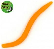 """Мягкая приманка TROUT ZONE Wake Worm 2 3,2"""" цвет оранжевый 1"""