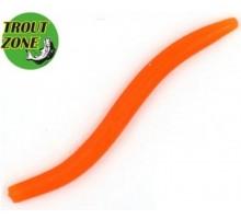 """Мягкая приманка TROUT ZONE Wake Worm 2 3,2"""" цвет оранжевый 2"""