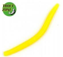 "Мягкая приманка TROUT ZONE Wake Worm 2 3,2"" цвет желтый"