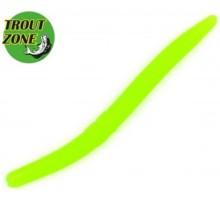 """Мягкая приманка TROUT ZONE Wake Worm 2 3,2"""" цвет зеленый"""