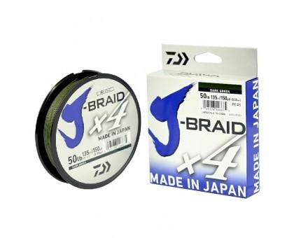 Плетенный шнур Daiwa J-BRAID X4 green 0,10