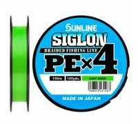 Плетеный шнур SUNLINE SIGLON PE x4 #1,2 LIGHT GREEN