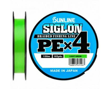 Плетеный шнур SUNLINE SIGLON PE x4 #0,5 LIGHT GREEN