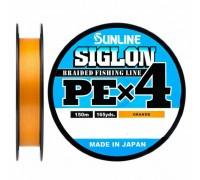Плетеный шнур SUNLINE SIGLON PE x4 #0,3 ORANGE