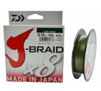 Плетеный шнур Daiwa J-BRAID X8 green 0,06