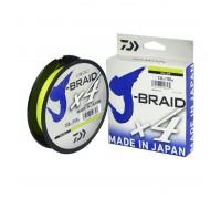 Плетенный шнур Daiwa J-BRAID X4 yellow 0,10