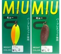 Блесна колеблющаяся Forest Miu 2,8 гр цвет ML2