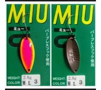 Блесна колеблющаяся Forest Miu 2,8 гр цвет ML3