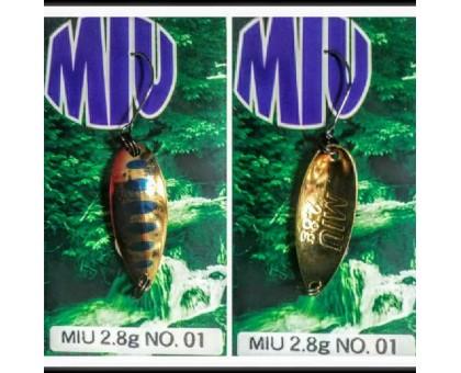 Блесна колеблющаяся Forest Miu 2,8 гр Native цвет 01