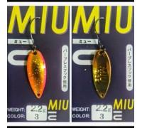 Блесна колеблющаяся Forest Miu 2,2 гр цвет 03
